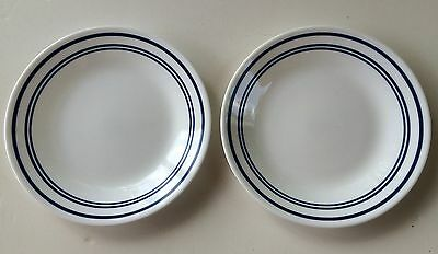 SET OF 2 CORELLE CORNING WARE CLASSIC CAFE BLUE Dessert Salad Plates