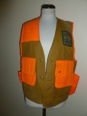 Vtg Red Head BONE-DRY HUNTING SHOOTING VEST Maine Moose Hunting Patch sz S Small