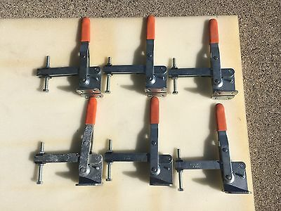 KNU-Vise V-400 400 lb. Capacity Vertical Hold Down Clamp. Lot of 6.