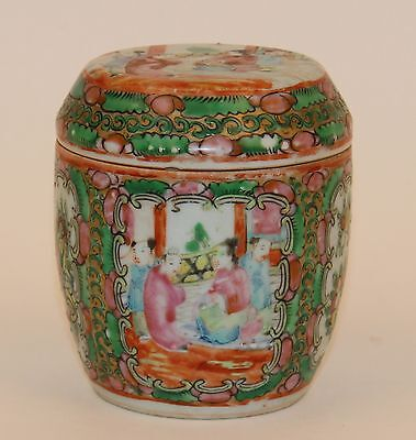 Chinese Export Famille Rose Medalion Covered Jar/tea Caddy