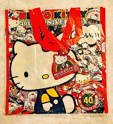 Sanrio Hello Kitty Con 40th Anniversary Shopping Bags  - NEW
