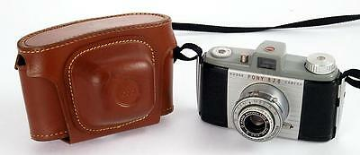 Kodak Pony 828 Camera with Leather Case - c1949-59 - EXCELLENT CONDITION WORKING