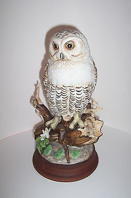 Snowy Owl Figurine, 10 Inches Tall, Creativa