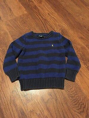 Ralph Lauren blue striped sweater size 3t