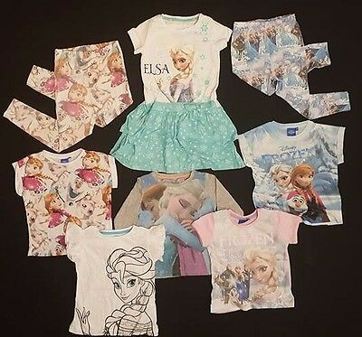 PRIMARK Girls DISNEY FROZEN T Shirt Tee Top OR Leggings AGE 18 months - 8 YRS