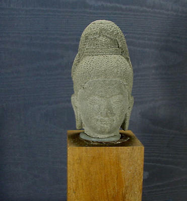 The Head of a  Hindu Deity early Khmer Style but later and from the 1800s