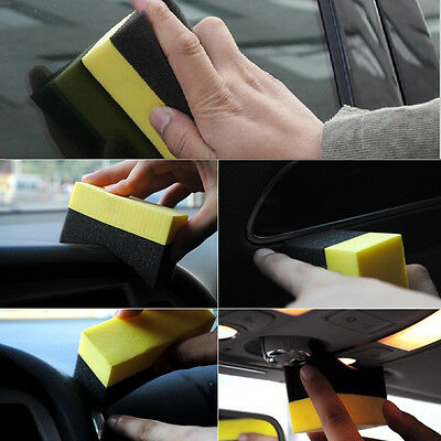 NEW Car Tire Cleaning Sponges Professional Tyre Dressing Applicator Curved Foam