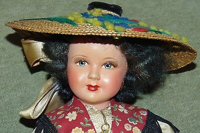 EXCEPTIONAL 1930'S FRENCH CELLULOID Doll LOVELY COSTUME!!