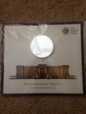 Brand new Buckingham Palace 100 Pound Fine Silver Coin. Royal Mint, UK, 2015