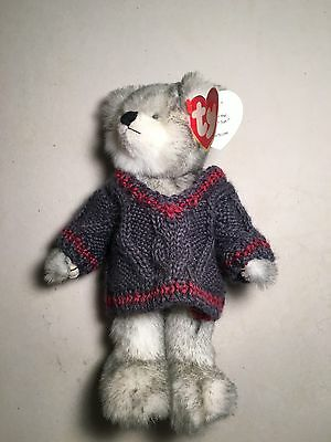 Ty Attic Wolf Fairbanks Land of The Midnight Sun Plush Animal