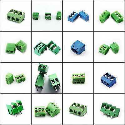Terminal Block Connector 3.5mm 3.96mm 5mm 5.08mm 7.6mm 8.5mm KF Series 2P 3P New