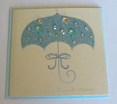 **french** Papyrus Wedding Shower Greeting Card