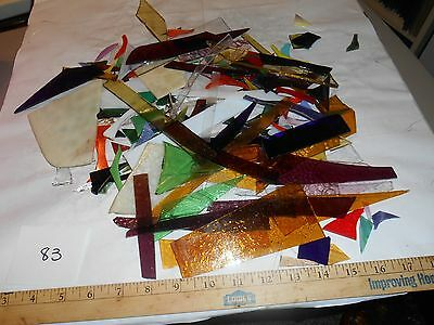 3 pounds stained glass scrap pieces #83