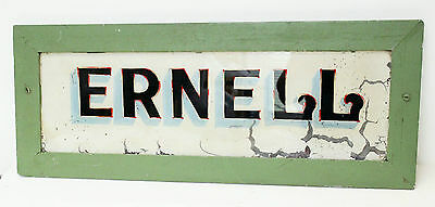 Vintage Antique House Sign Name Plaque 'Ernell'