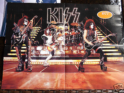 LOT OF 8 DOUBLE SIDED  KISS Vintage Posters 16 TOTAL SHOTS. LOTS OF EARLY SHOTS