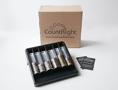 CountRight - Australian  COIN COUNTING TRAY, Money Sorting Tray, Coin Counter