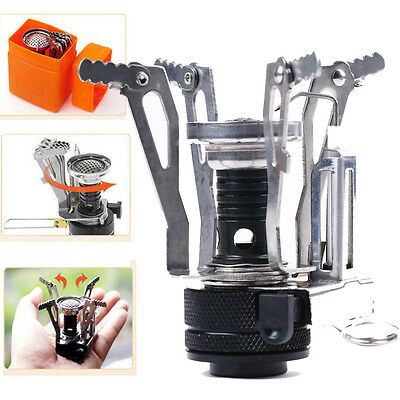 Mini Camping Gas Stove Outdoor Portable Burner Hiking Butane Picnic Camp OS348