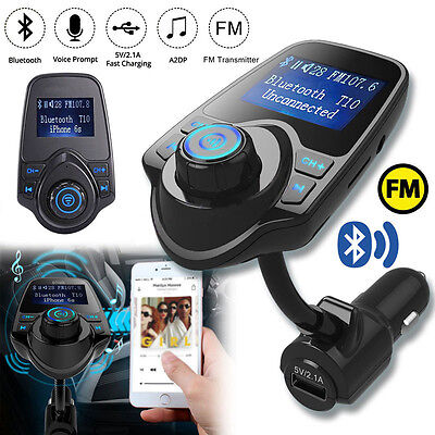 Car Kit Handsfree Wireless Bluetooth FM Transmitter LCD MP3 Player USB Charger *