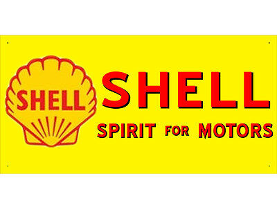 Advertising Display Banner for Shell Sales Service Oils