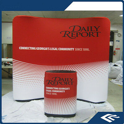10ft Curved Tension Fabric Exhibition Display Trade Show Wall Booth Stand pop up