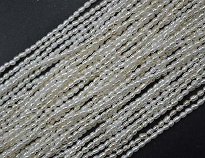 wholesale 5 strands small 2mm rice freshwater pearl
