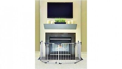 Dreambaby Xlarge Six Panel Steel Child Baby Safety Playpen Fireplace Barrier
