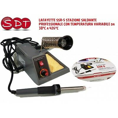 LAFAYETTE SSR-5 SOLDERING STATION PROFESSIONAL WITH TEMPERATURE VARIABLE da 38°
