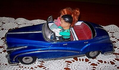 Collectable Vintage Tin  Battery & Friction Toy Car ~ A/f Deceased Estate