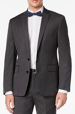 38R New Ryan Seacrest $550 Mens Gray Slim Fit 100% Wool 2 Piece Suit 32X32 Nwt
