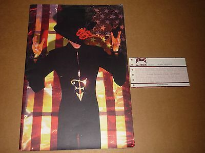 """Prince """"The Gold Experience 1995 UK Tour Programme + Ticket"""