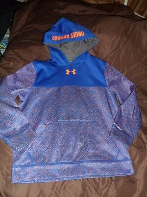 UNDER ARMOUR BOY'S STORM  FLEECE PRINTED HOODIE SIZE LARGE Style #1239280