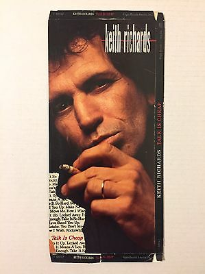 Vintage 1980s Keith Richard Talk Is Cheap Empty CD Longbox Only No Disc Long Box