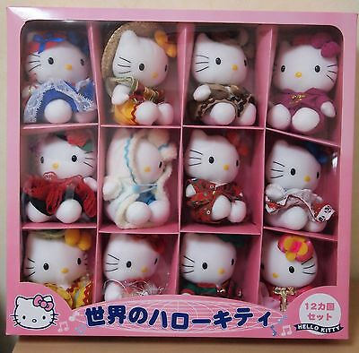 New Rare Hello Kitty World Collection Plush Doll 12 Set Countries Costume Sanrio