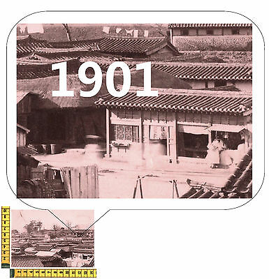 South Korea SEOUL Real Original Historic Photographie - about 1901 Overview Town