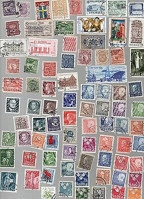 SWEDEN stamps 130 All Different and Off Paper