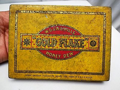 Vintage Advertising Tin Old Gold Flake Honey Dew Cigarettes Collectibles Rare