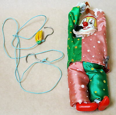 Rare Vintage Cragston Tin Toy Tightrope Circus Clown In Box Excellent Condition