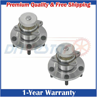 Pair of 2 Rear Wheel Hub & Bearing Assembly for Chrysler Dodge Mitsubishi w/ ABS