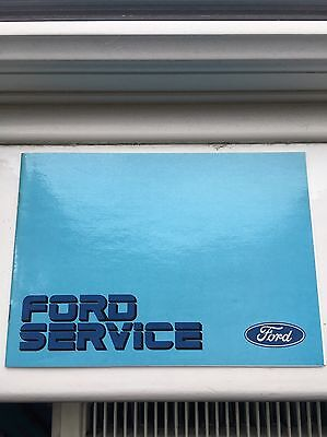 Ford Service Book (Unstamped) Rs Cosworth 1980's