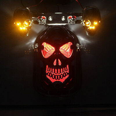 feu phare arriere moto Plate Licence taillight custom feux freinage clignotants