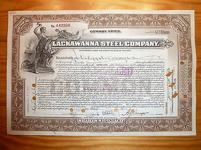 US: LACKAWANNA STEEL Company, 1924, div. Shares*