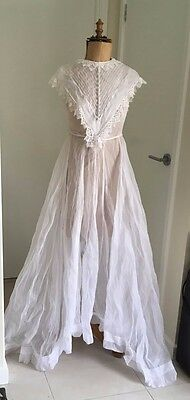Vintage Wedding Dress - 3 Piece - With Lace (V.Small)