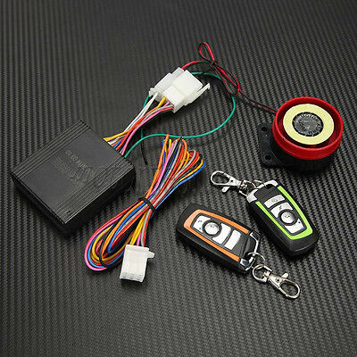 12V Motorbike Anti-theft Remote control Alarm System 100M 125dB for Suzuki Honda