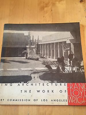 1954 Los Angeles Sixty Years of Living Architecture Frank Lloyd Wright Catalogue