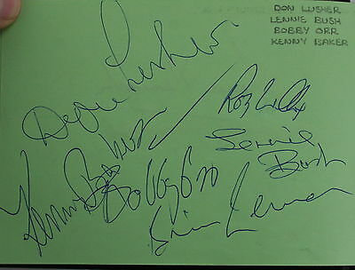 Autographs of mostly 60s pop groups & stars in 2000s lineups. About 67 pages.