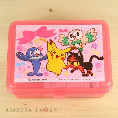 Pokemon Center Original Sun Moon Accessory case Pikachu Rowlet Litten Popplio