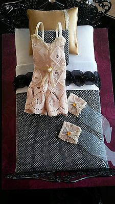 1:12th scale~20's 30's lingerie and stockings display~ hand made by suey