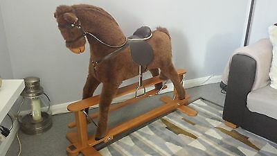 Mamas and Papas Wooden Base Beautiful Large Rocking Horse (Great Condition)
