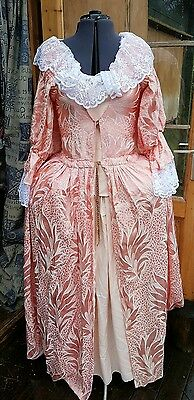 Georgian women's costume, pantomime fancy dress, early regency era round gown