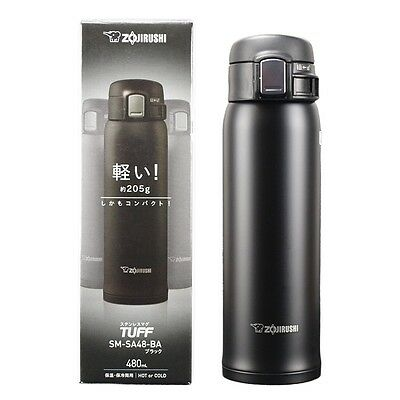 Zojirushi SM-SA48BA Stainless Steel Mug, Black, 16 Ounce *US Seller*